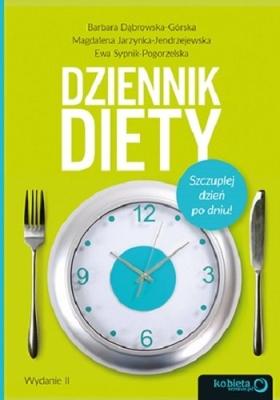 """Okładka książki """"Dziennik diety. Szczuplej dzień po dniu"""" wydanie 2"""