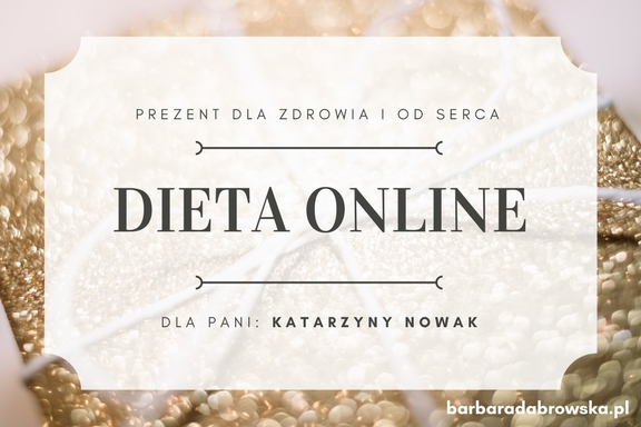 Dieta online z dietetykiem na prezent - kupon prezentowy, część 1.