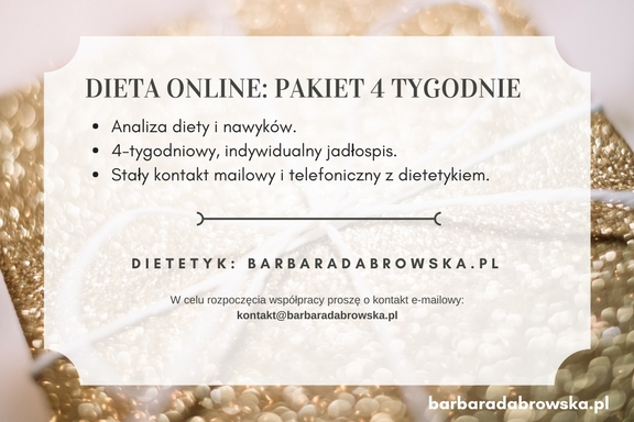 Dieta online z dietetykiem na prezent - kupon prezentowy, część 2