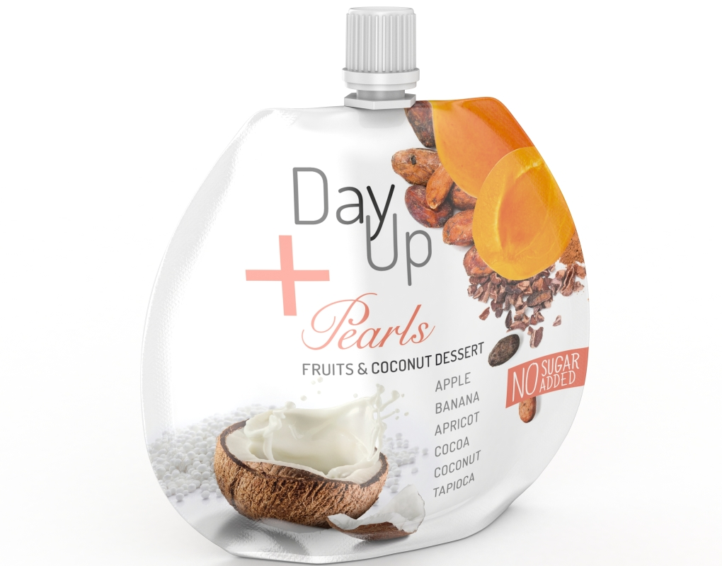 Opakowanie owocowo-kokosowego deseru DayUp Pearls Cocoa