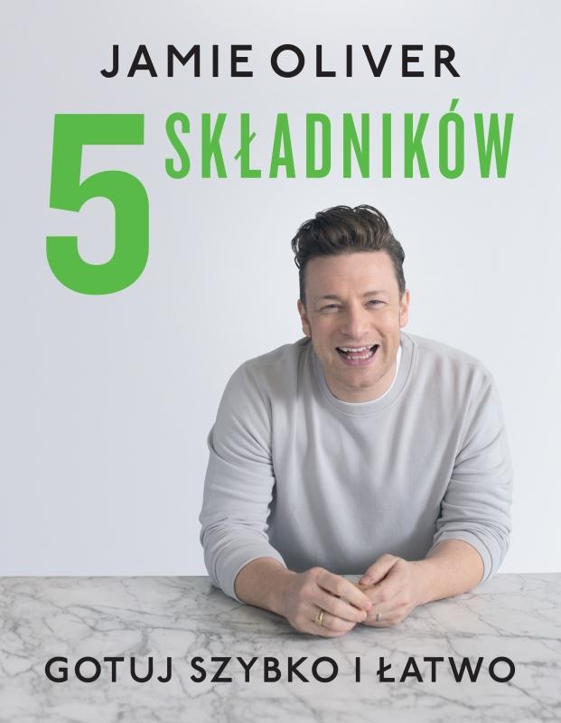 """Okładka książki """"5 składników"""" Jamie Oliver"""