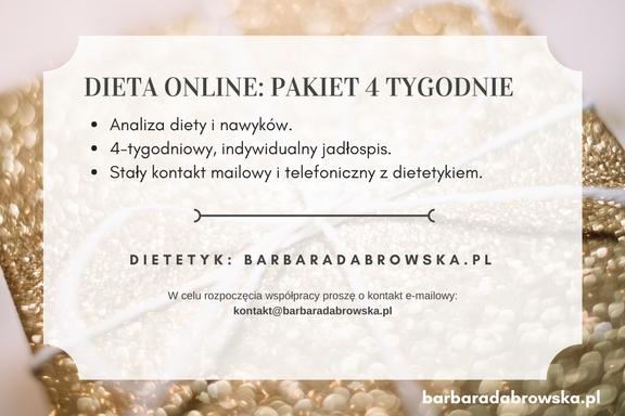 Dieta online zdietetykiem naprezent - kupon prezentowy, część 2