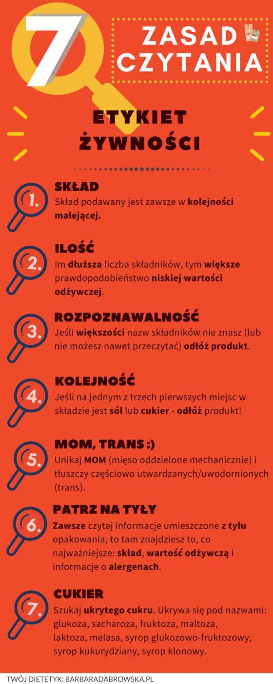 Jak czytać etykiety żywności? 7 zasad czytania opakowań żywności