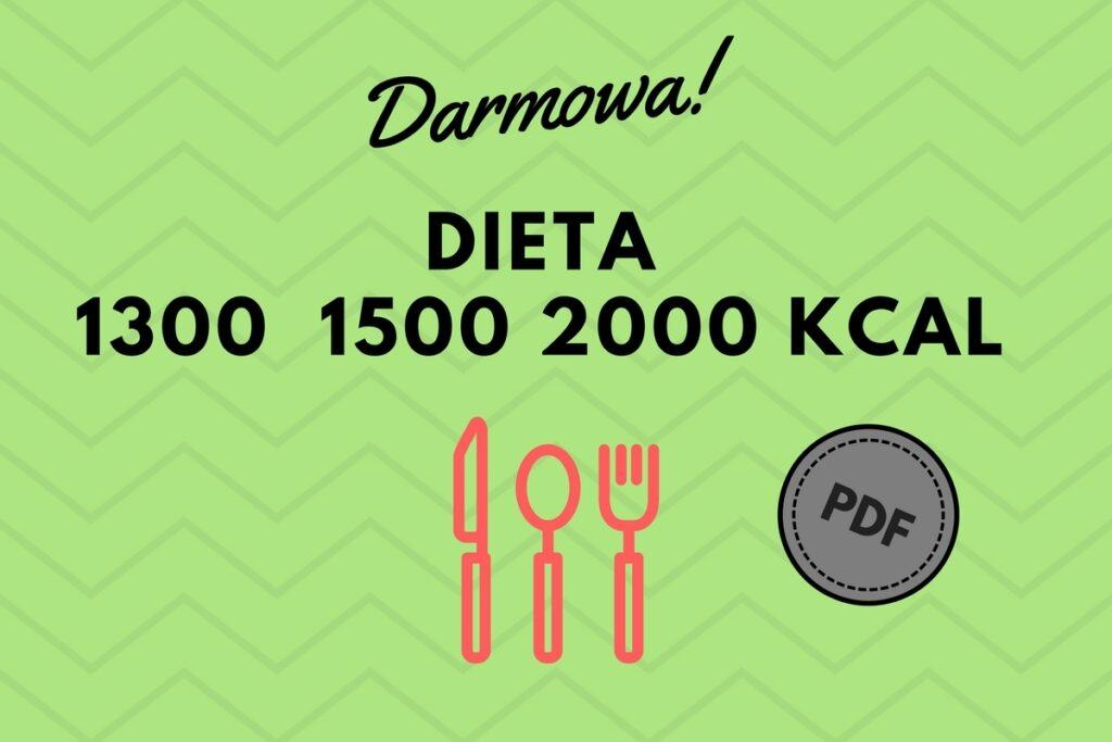 Darmowa dieta na 1300 kcal, 1500 kcal i 2000 kcal. Do pobrania w PDF. Odpowiednia dieta w insulinooporności.