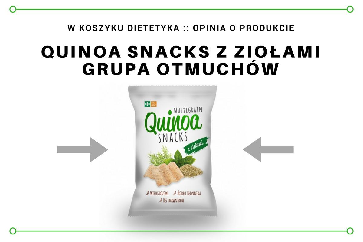 Quinoa snacks z ziołami, recenzja dietetyka