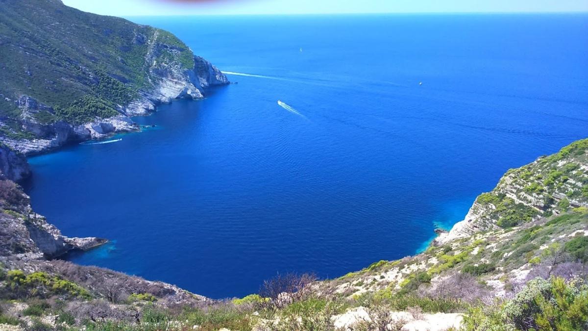 Widok na Morze Śródziemne, Zakynthos, Grecja