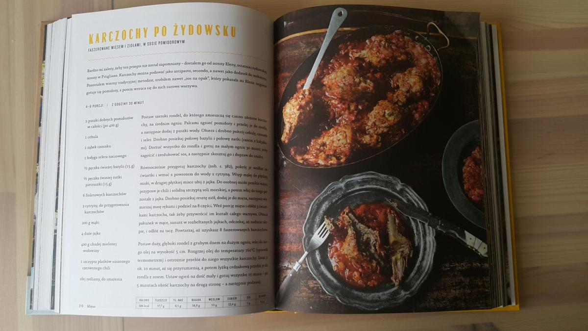 """Recenzja książki """"Jamie gotuje po włosku"""" Jamie Oliver - zdjęcie zawartości książki, przepisu"""
