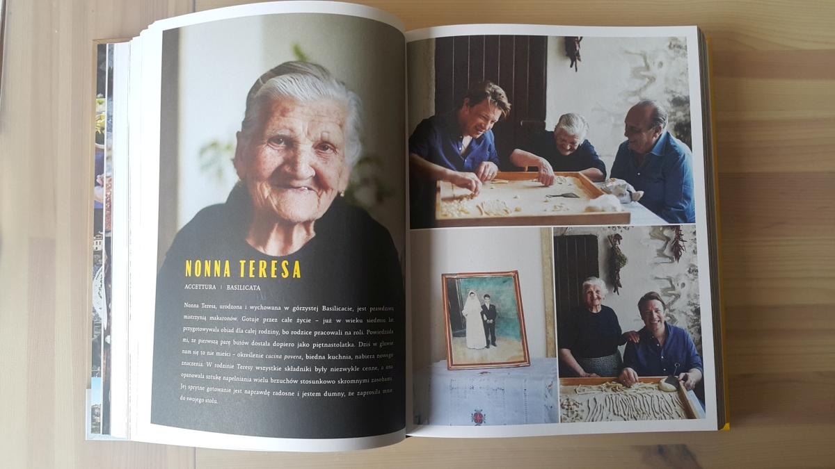"""Recenzja książki """"Jamie gotuje po włosku"""" Jamie Oliver - zdjęcie zawartości książki"""