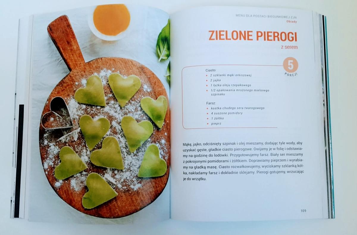 """Recenzja książki """"Jelito drażliwe. Leczenie dietą."""" Hanna Stolińska-Fiedorowicz - zdjęcie ze środka książki"""