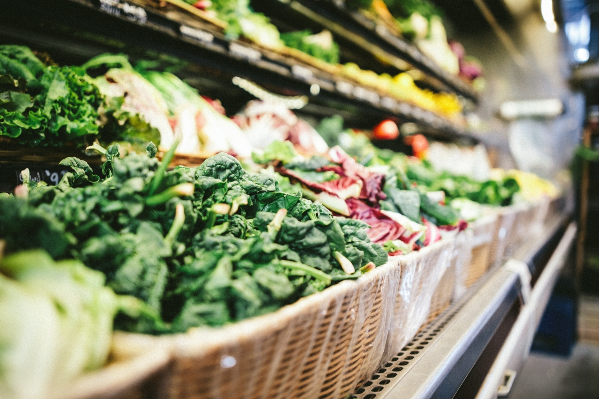 Świeże warzywa bogate w błonnik