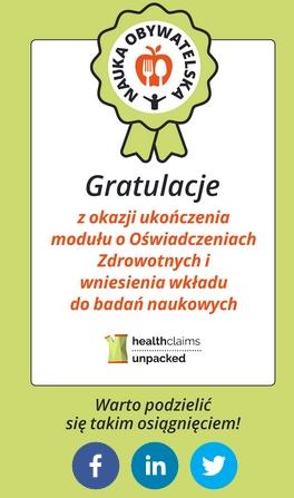 Odznaka - health claims unpacked