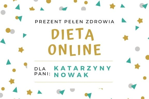 Dieta online- kupon prezentowy - wersja 1