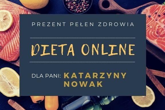 Dieta online- kupon prezentowy - wersja 3