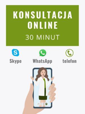 Konsultacja online z dietetykiem 30 minut