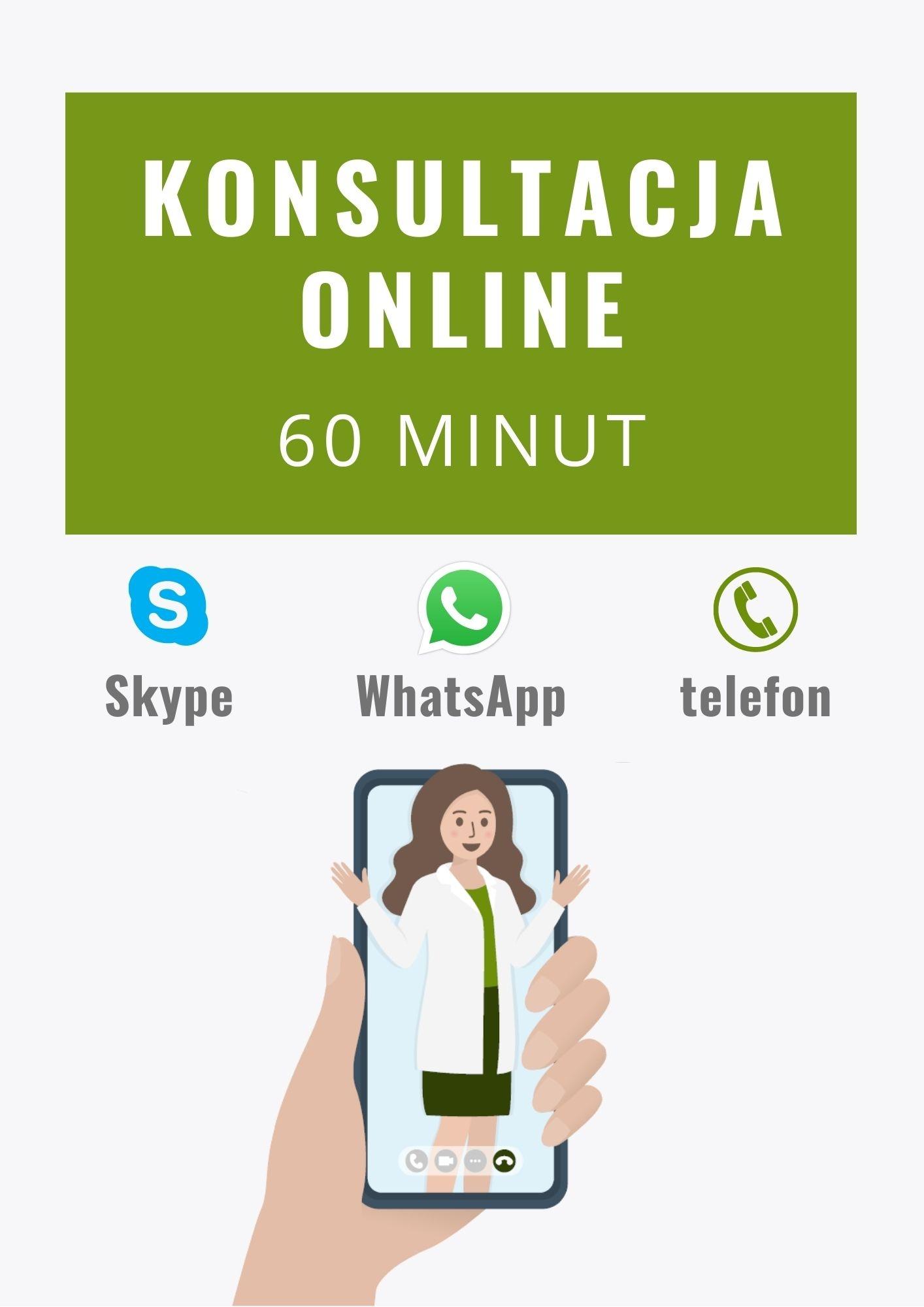 Konsultacja online z dietetykiem 60 minut