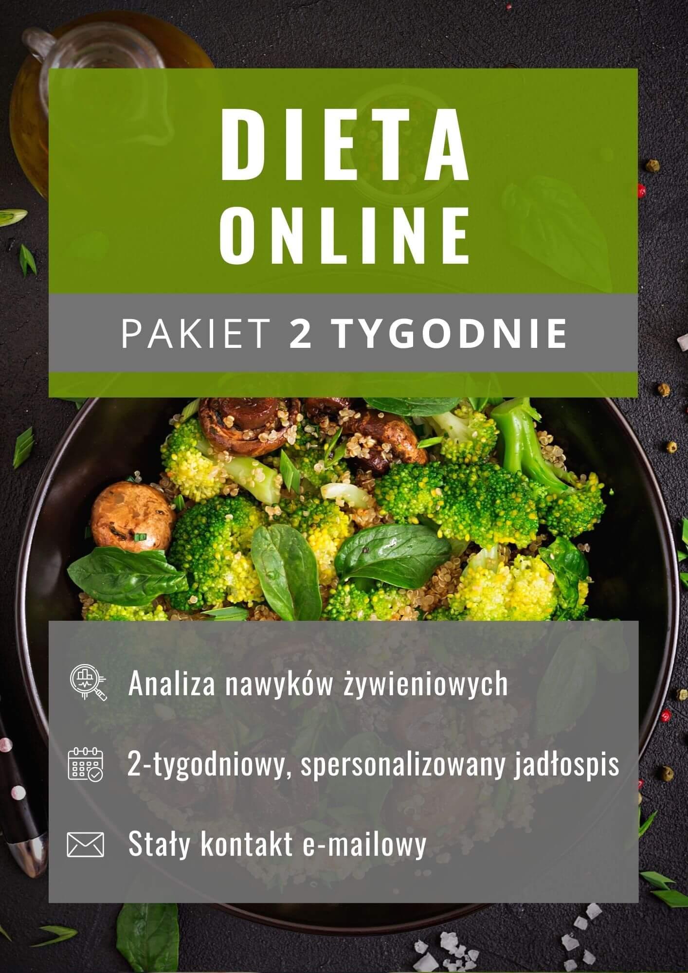 Dieta online - pakiet 2 tygodnie