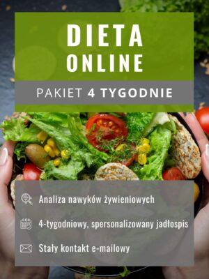 Dieta online - pakiet 4 tygodnie