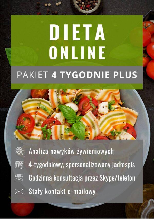 Dieta online - pakiet 4 tygodnie plus