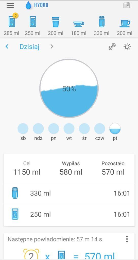 Hydro pij wodę zrzut 1